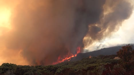 A-Vast-And-Fast-Moving-Wildifre-Burns-As-A-Huge-Brush-Fire-On-The-Hillsides-Of-Southern-California-During-The-Cave-Fire-In-Santa-Barbara