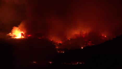 Night-Footage-As-The-Cave-Fire-Near-Santa-Barbara-California-Burns-Vast-Acres-Of-Southern-California-Hillsides