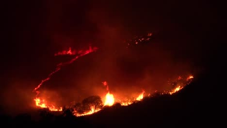 Night-Footage-As-The-Cave-Fire-Near-Santa-Barbara-California-Burns-Vast-Acres-Of-Southern-California-Hillsides-1