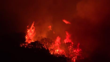 Huge-Flames-Rise-At-Night-As-The-Cave-Fire-Near-Santa-Barbara-California-Burns-Vast-Acres-Of-Southern-California-Hillsides