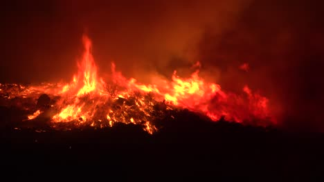 Huge-Flames-Rise-At-Night-As-The-Cave-Fire-Near-Santa-Barbara-California-Burns-Vast-Acres-Of-Southern-California-Hillsides-2