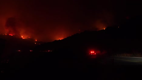 Night-Footage-Of-Emergency-Vehicles-Responding-To-The-Cave-Fire-Near-Santa-Barbara-California