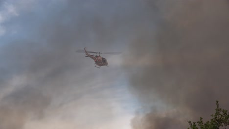 A-Helicopter-Patrols-A-Southern-California-Wildfire-Brush-Fire-In-Santa-Barbara