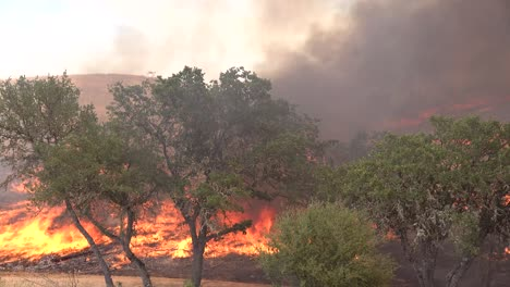 A-Wildfire-Brush-Fire-Burns-In-The-Hills-Of-Southern-California-3