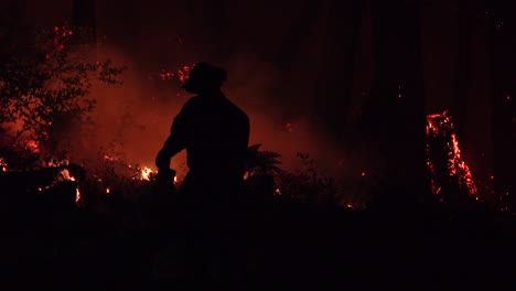 Night-Firefighters-Fire-Fighting-During-Lightning-Complex-Fire-In-Santa-Cruz-Mountains-California-2