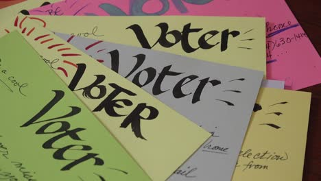 Volunteers-Create-Homemade-Voter-Registration-Voting-Reminder-Postcards-Cards-Prior-To-The-2020-Elections