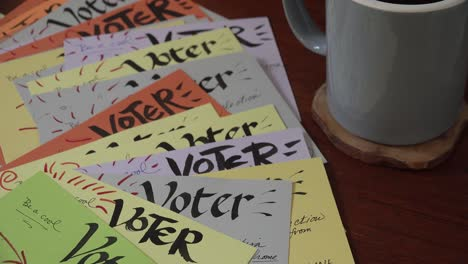 Volunteers-Create-Homemade-Voter-Registration-Voting-Reminder-Postcards-Cards-Prior-To-The-2020-Elections-1