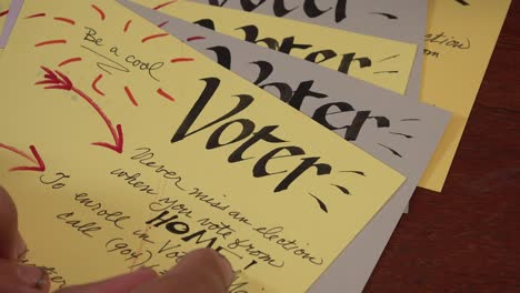 Volunteers-Create-Homemade-Voter-Registration-Voting-Reminder-Postcards-Cards-Prior-To-The-2020-Elections-2