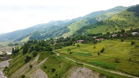 Aerial-Over-A-Village-In-The-Countryside-Of-The-Republic-Of-Georgia-1