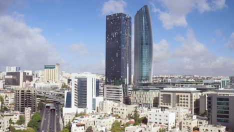 Vista-Aérea-Over-The-City-Of-Amman-Jordan-Downtown-Business-District-And-Traffic-1