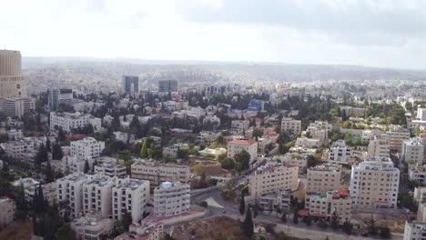 Antena-Sobre-La-Ciudad-Y-Los-Suburbios-De-Amman-Jordan