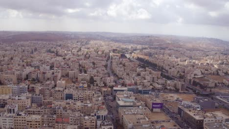 Alta-Antena-Sobre-La-Ciudad-De-Amman-Jordania