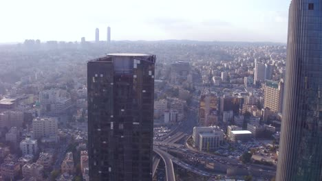 Aerial-Over-The-City-Of-Amman-Jordan-Downtown-Business-District-Skyscrapers-And-Offices-2