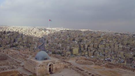 Hochantenne-über-Der-Altstadt-Von-Amman-Jordan-An-Einem-Stürmischen-Tag-2