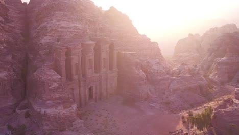 Beautiful-Aerial-Of-The-Monastery-Building-In-Petra-Jordan-1