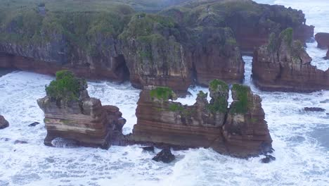 Aerial-Around-The-Pancake-Rocks-Geological-Formations-On-The-Coast-Of-South-Island-Of-New-Zealand-2