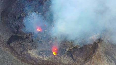 Stunning-Dramatic-Aerial-Over-Mt-Yasur-Volcano-Volcanic-Eruption-Lava-On-Tanna-Island-Vanuatu-2