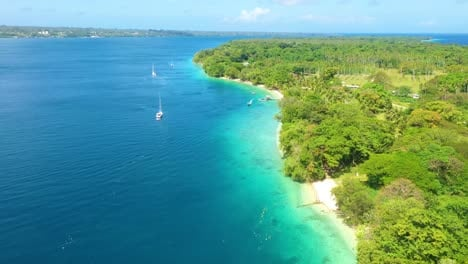 Good-Aerial-Over-The-Pacific-Islands-Of-Melanesia-Vanuatu-With-Palm-Jungles