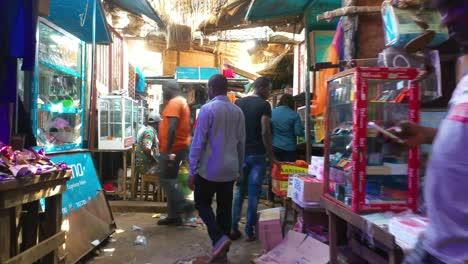 Pov-Shot-Walking-Through-Crowded-Market-Stalls-In-Bissau-In-Guineabissau-West-Africa-1
