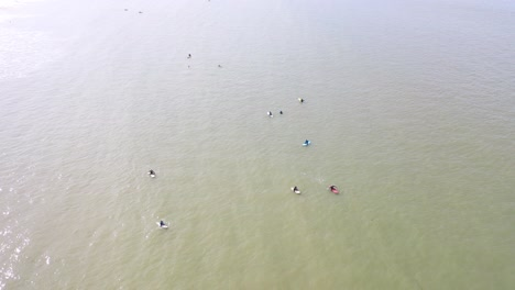 Aerial-Over-Surfers-Enjoying-Waves-And-Surfing-Off-The-Coast-Of-Essaouira-Morocco-3