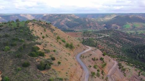 Luftaufnahmen-über-Landschaften-Und-Hügeln-Nordmarokkos