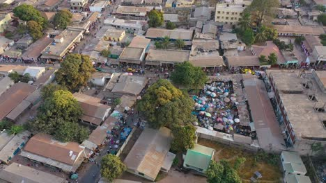 Very-Good-Aerial-Over-West-African-Street-Market-In-Gambia-Passes-For-Guinea-Bissau-Sierra-Leone-Nigeria-Ivory-Coast-Or-Liberia-1