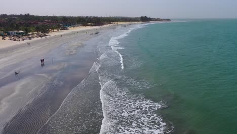Aerial-On-The-Coast-Of-Gambia-West-Africa
