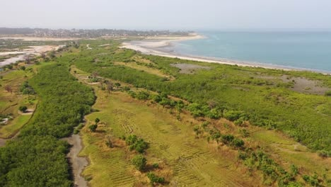 Good-Aerial-Views-Of-A-Coastal-Region-In-West-Africa-Near-Banjul-Gambia