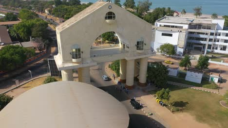 Aerial-View-Of-Arch-22-Gateway-To-Gambia-West-Africa