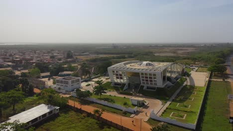 Aerial-Over-The-National-Assembly-Parliament-Government-Center-Of-Gambia-West-Africa
