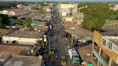 Very-Good-Aerial-Over-West-African-Street-Market-In-Gambia-Passes-For-Guinea-Bissau-Sierra-Leone-Nigeria-Ivory-Coast-Or-Liberia-2