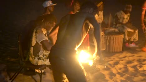 African-Tribal-Dancers-Dance-To-Drum-Rhythms-In-Front-Of-A-Bon-Fire-In-West-Africa-4
