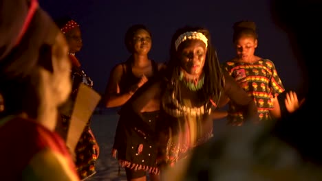 African-Tribal-Dancers-Dance-To-Drum-Rhythms-In-Front-Of-A-Bon-Fire-In-West-Africa-5