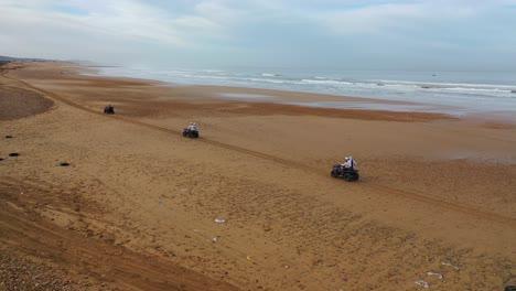 Tourists-Ride-Atvs-On-A-Beach-In-Essaouira-Morocco
