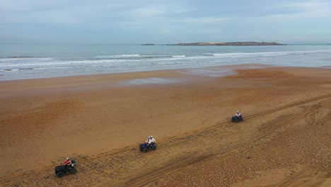 Tourists-Ride-Atvs-On-A-Beach-In-Essaouira-Morocco-1