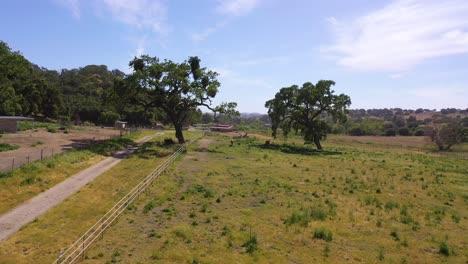 Beautiful-Aerial-Over-A-Horse-Farm-Or-Ranch-In-Santa-Barbara-County-California-1