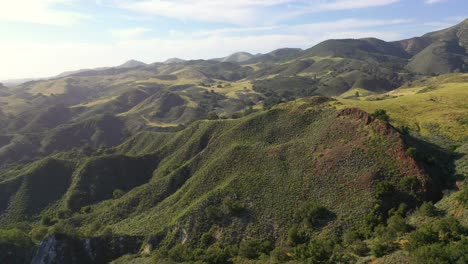 Beautiful-Aerial-Over-Remote-Hills-And-Mountains-In-Santa-Barbara-County-Central-California-2