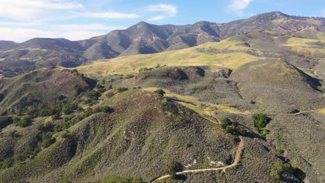Beautiful-Aerial-Over-Remote-Hills-And-Mountains-In-Santa-Barbara-County-Central-California-4