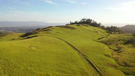 Schöne-Antenne-über-Grasland-Und-Abgelegenen-Hügeln-Und-Bergen-Zeigt-Das-Santa-Ynez-Tal-Santa-Barbara