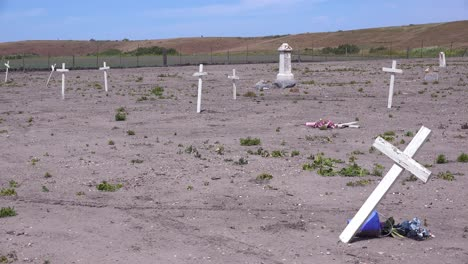 The-Graves-Of-Unknown-Mexican-Immigrant-Hispanic-Farm-Workers-Are-Marked-By-Crosses-In-A-Graveyard-Cemetery-Near-Guadeloupe-5