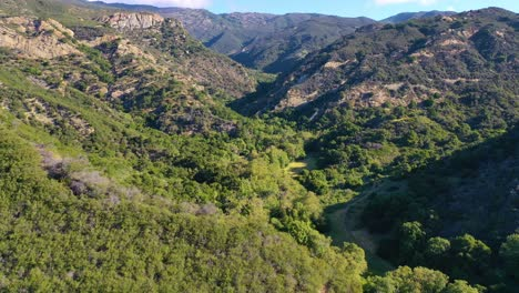 Aerial-Over-A-Remote-Canyon-Arroyo-Hondo-In-Gaviota-Santa-Barbara-County-California-3