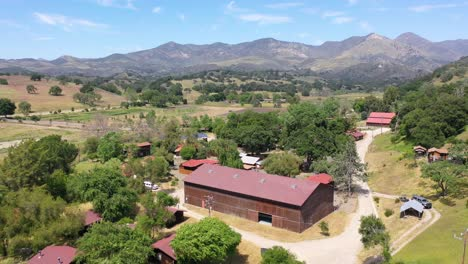 Beautiful-Aerial-Over-A-Horse-Farm-Or-Ranch-In-Santa-Barbara-County-California-4