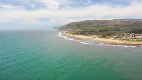 High-Aerial-Over-The-Central-Coast-Of-California-Near-Ventura