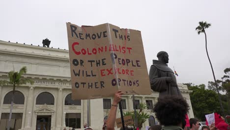 Chumash-American-Indian-Protest-Against-Father-Junipero-Serra-Statue-In-Front-Of-City-Hall-Ventura-California-1