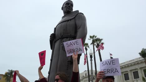 Chumash-American-Indian-Protest-Against-Father-Junipero-Serra-Statue-In-Front-Of-City-Hall-Ventura-California-5