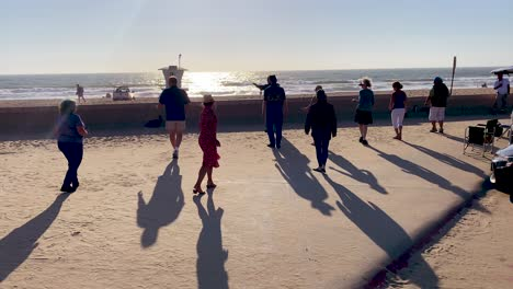 People-Practice-Learn-Line-Dancing-And-Dance-Outdoors-At-A-Beach-In-Ventura-Southern-California-1