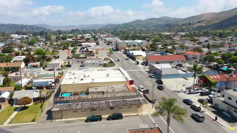 Aerial-Over-The-Avenue-Section-Of-Ventura-California-With-Businesses-And-Offices-Visible-Southern-California-Or-Los-Angeles-Average-West-Coast-Town-2