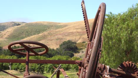 Pioneer-Rusty-Farm-Equipment-Is-Found-On-A-Ranch-In-The-Santa-Ynez-Mountains-Of-California
