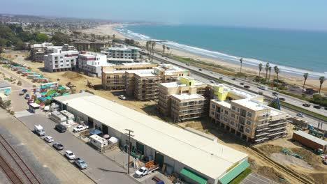Aerial-Of-Condos-And-Development-Construction-Along-The-Pacific-Coast-Near-Ventura-California
