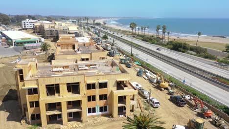Rising-Aerial-Of-Condos-And-Development-Construction-Along-The-Pacific-Coast-Near-Ventura-California-1